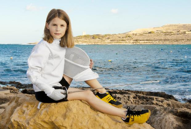 Lucy-Belle Williamson is always training – even on this holiday to Malta