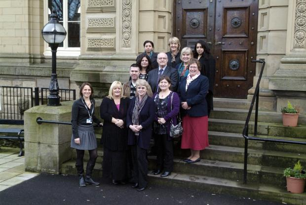 Craven Herald: Staff from Shipley College who will be involved with the project