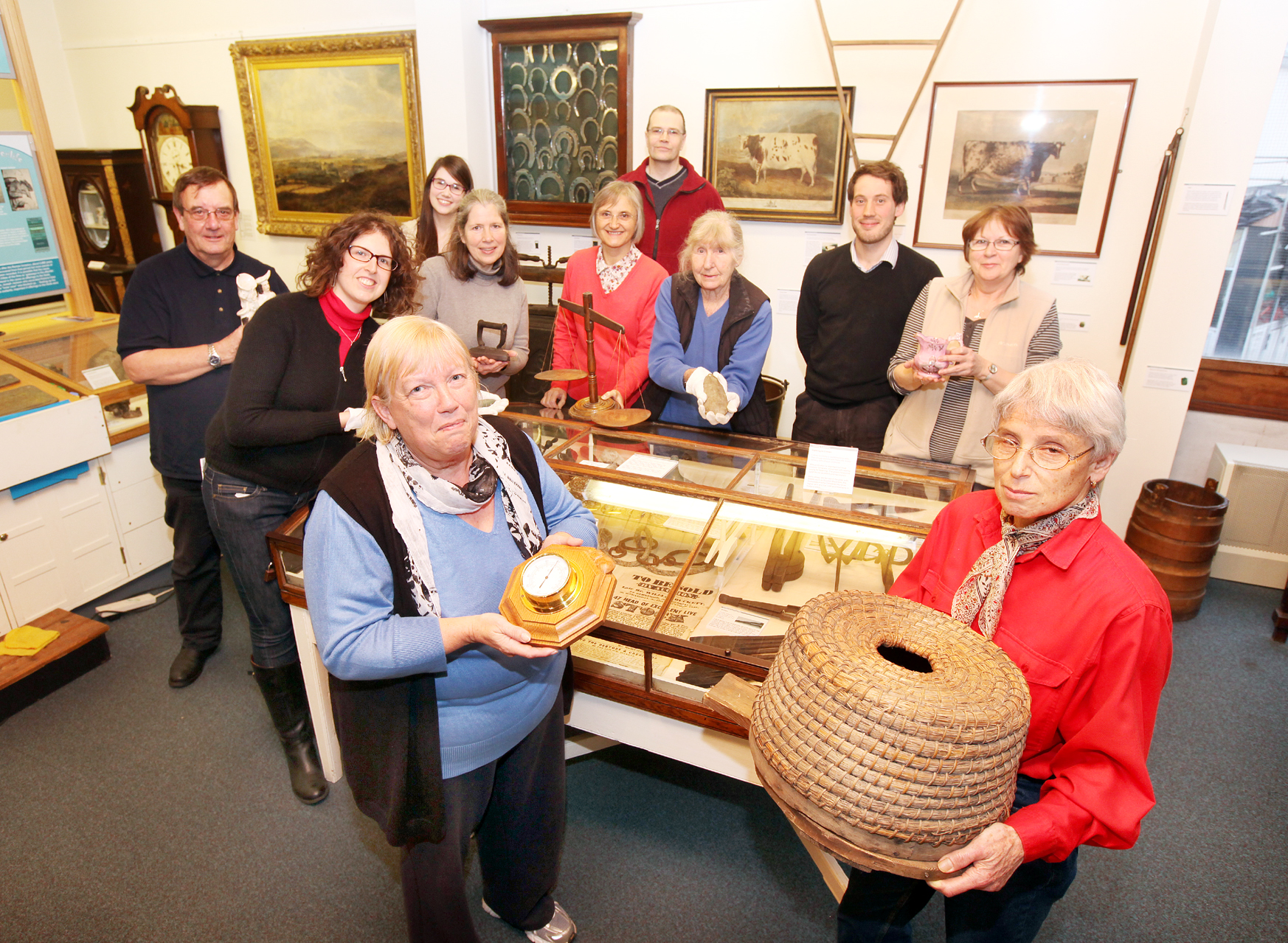 Craven Museum and Gallery staff with some of the volunteers who give up their time to preserve and exhibit the collections