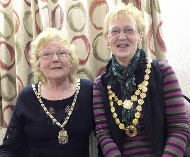 President of Skipton Soroptimists Valerie Ludlam is pictured (left) with Margaret Cooke