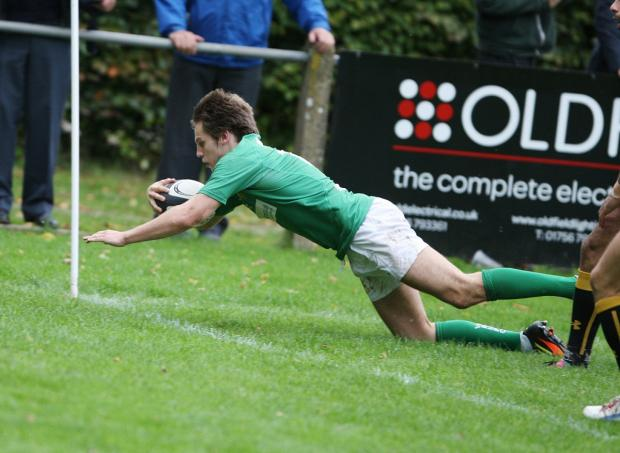 Scott Jordan's try for Wharfedale was worth the admission money said a Coventry spectator
