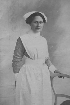 Minerva Robinson, of Wigglesworth – the only woman on the First World War Memorial in the village