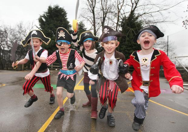 Rathmell Primary School pirates Isaac Booth, James Lambert, Scarlett Bell, Oliver Banks and Ryan Booth