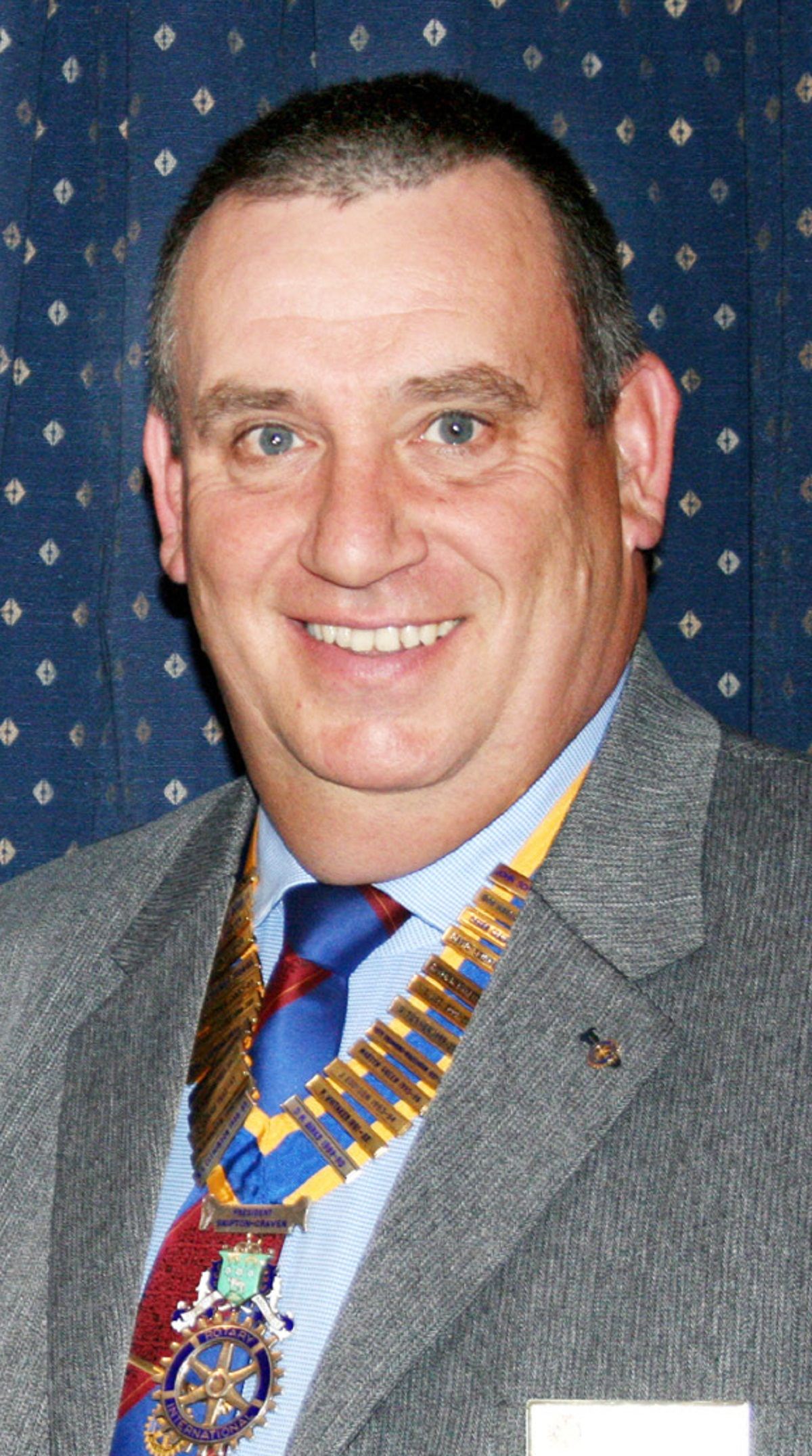 Bob Marchant, president of Rotary Club of Skipton Craven