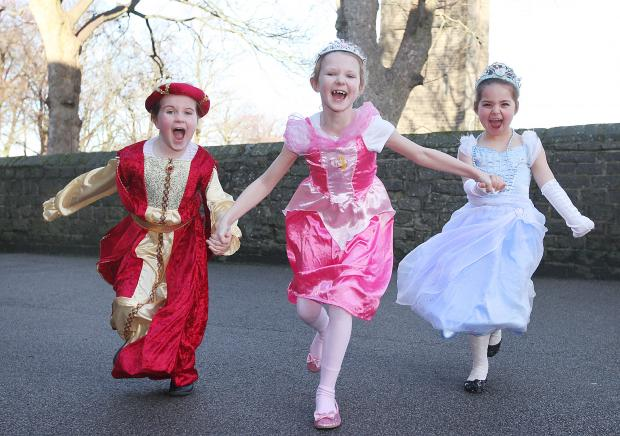 Isabella Brewood, Beth Pickup and Elyse Hartley take part in Sutton Church Primary School's medieval day