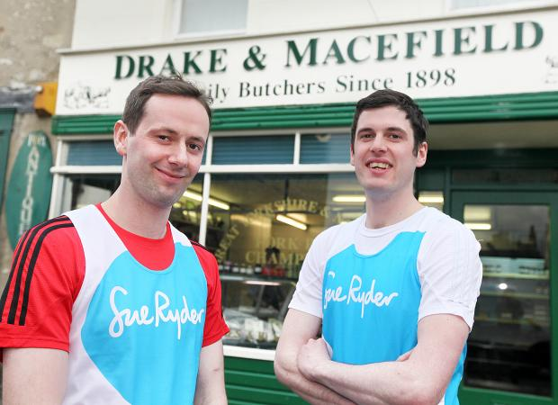 Craven Herald: Drake and Macefield duo, brothers Steven and Adam Procter, raised more than £2,000 for Manorlands by running the Yorkshire Marathon