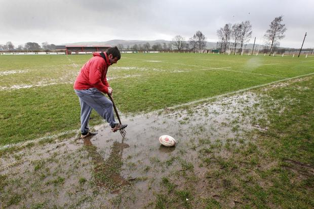 Craven Herald: Skipton Rugby Union Club was just one waterlogged venue last Saturday