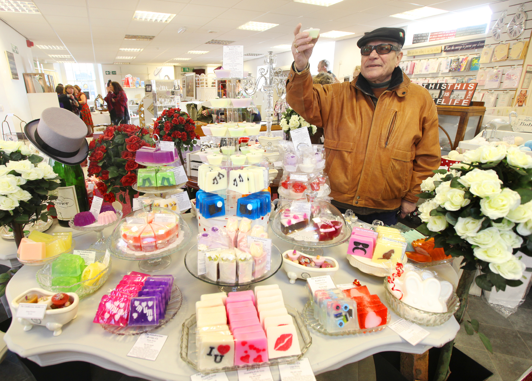 A customer browses the array of goods on offer at the Old Fire Station in Skipton