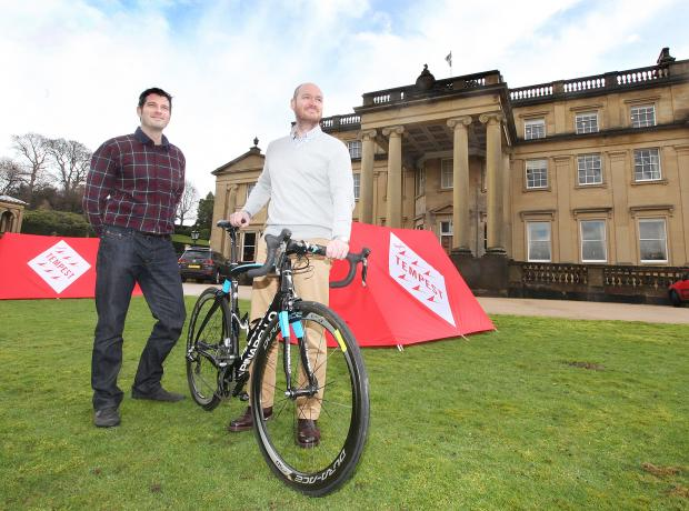 Rapha Tempest Festival director Stuart Bryne and Broughton Hall Estate business development manager Mike Lennon