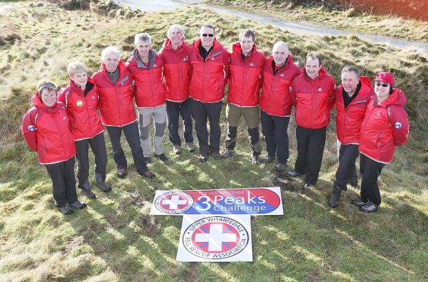 Upper Wharfedale Fell Rescue Association help launch the Three Peaks Challenge fundraising initiative