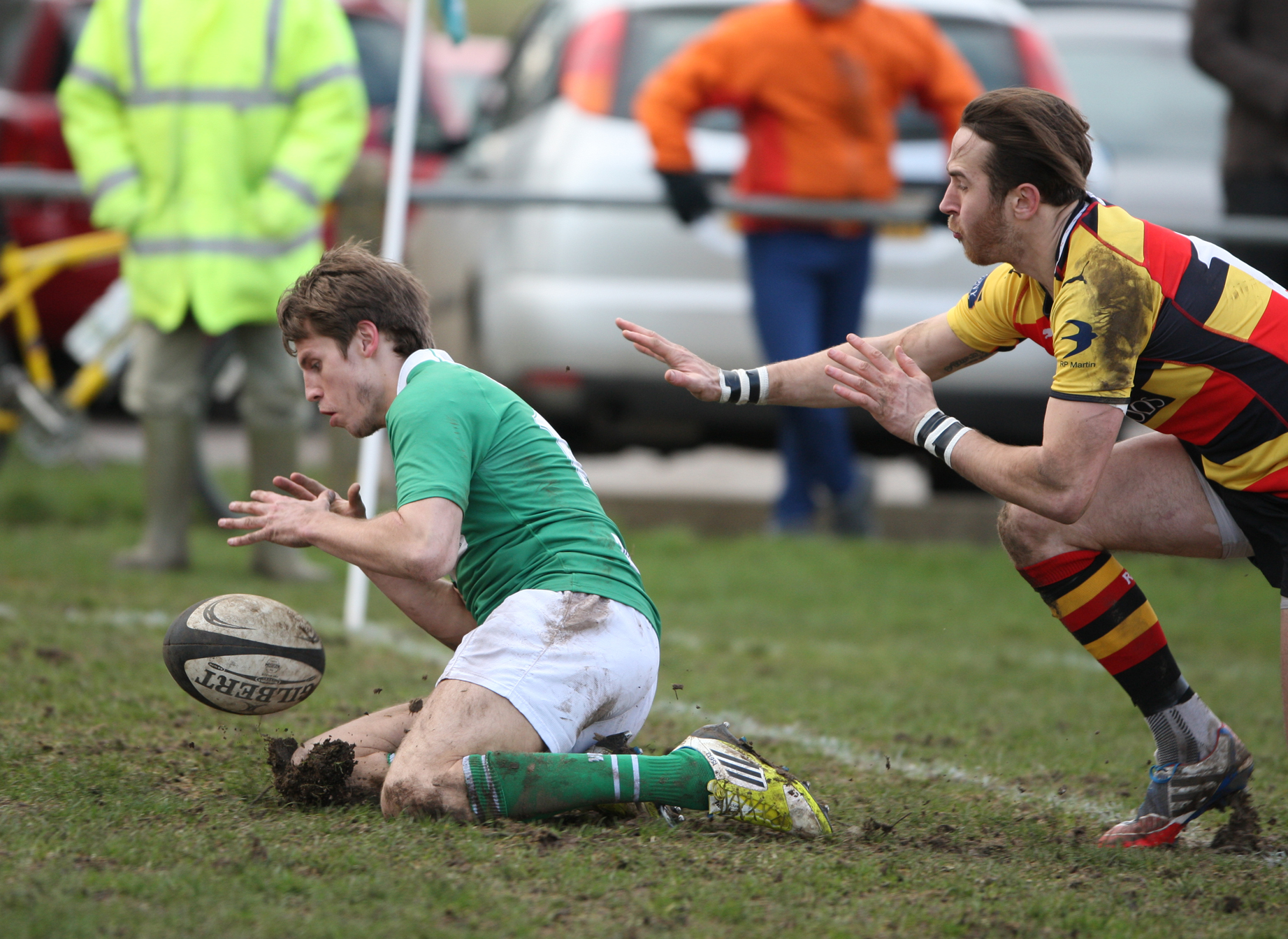 Scott Jordan touches down for one of his two tries for Wharfedale
