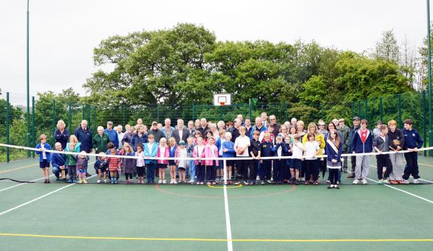 The official opening of the Addingham games area last year