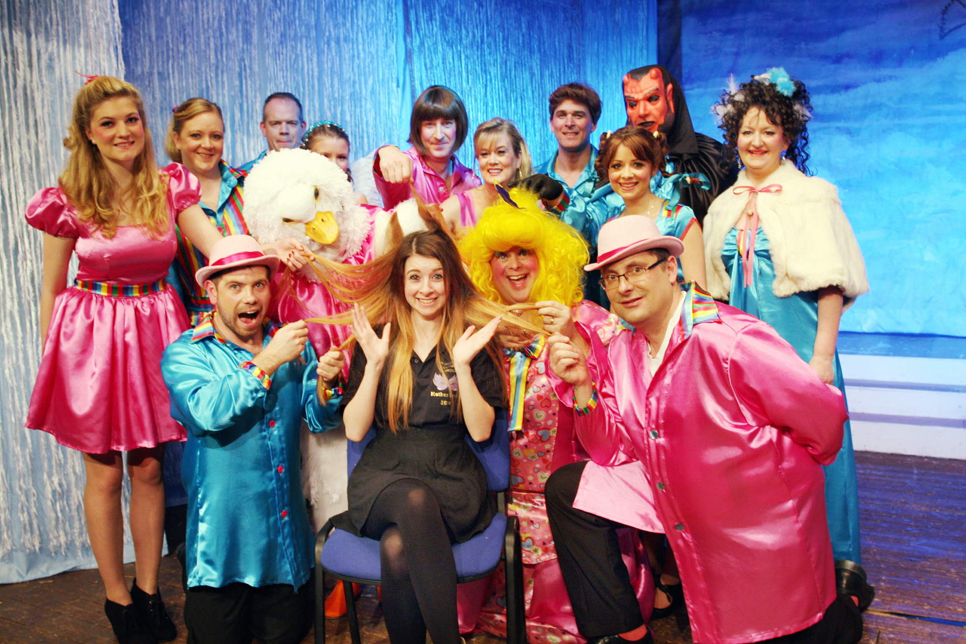 Jessica Doherty and her pantomime colleagues