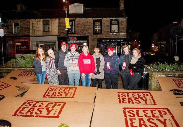 SLEEPING ROUGH: Campaigners raise the issue  of youth homelessness
