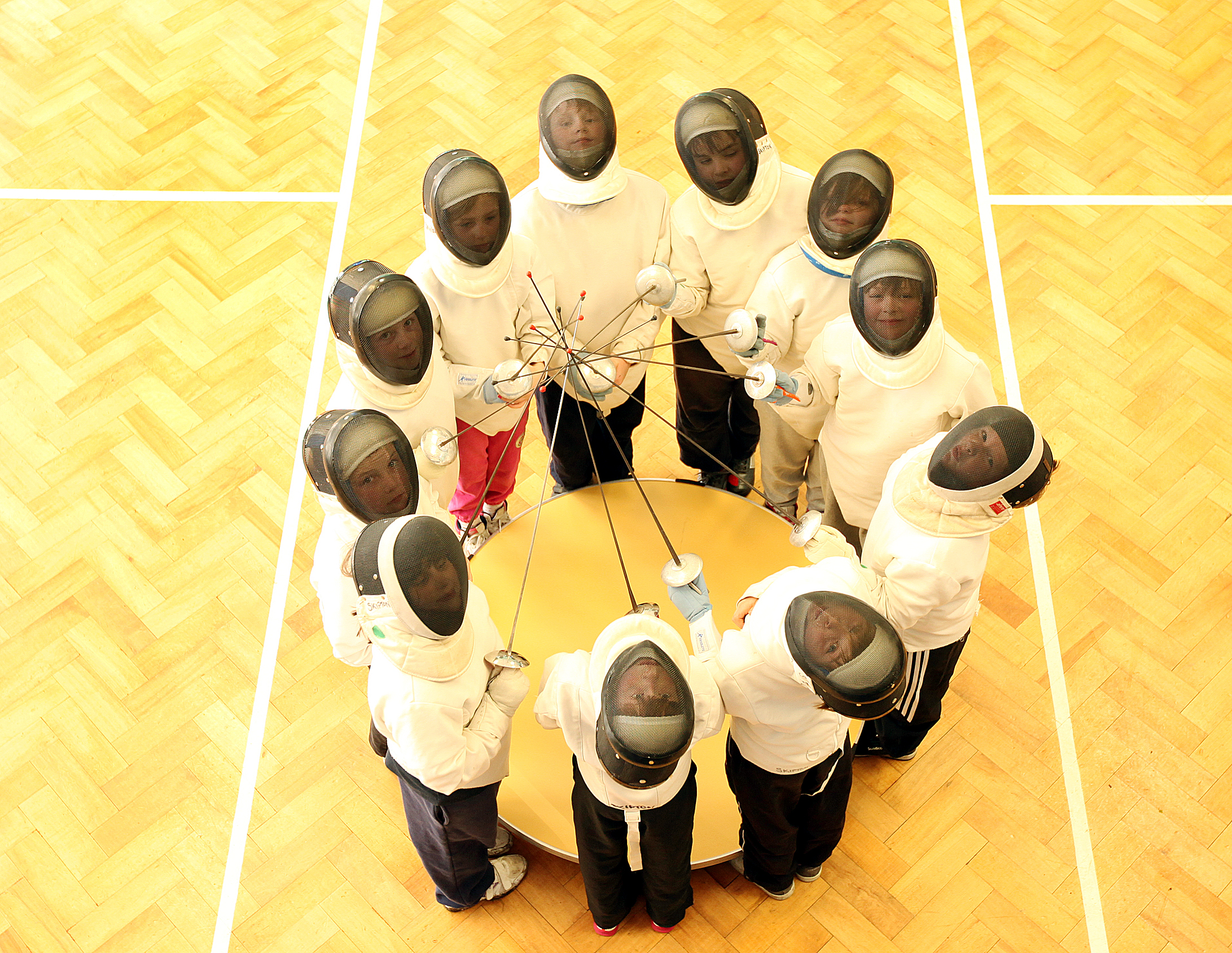 BEHIND THE MASK Greatwood Primary School's new after-school fencing club