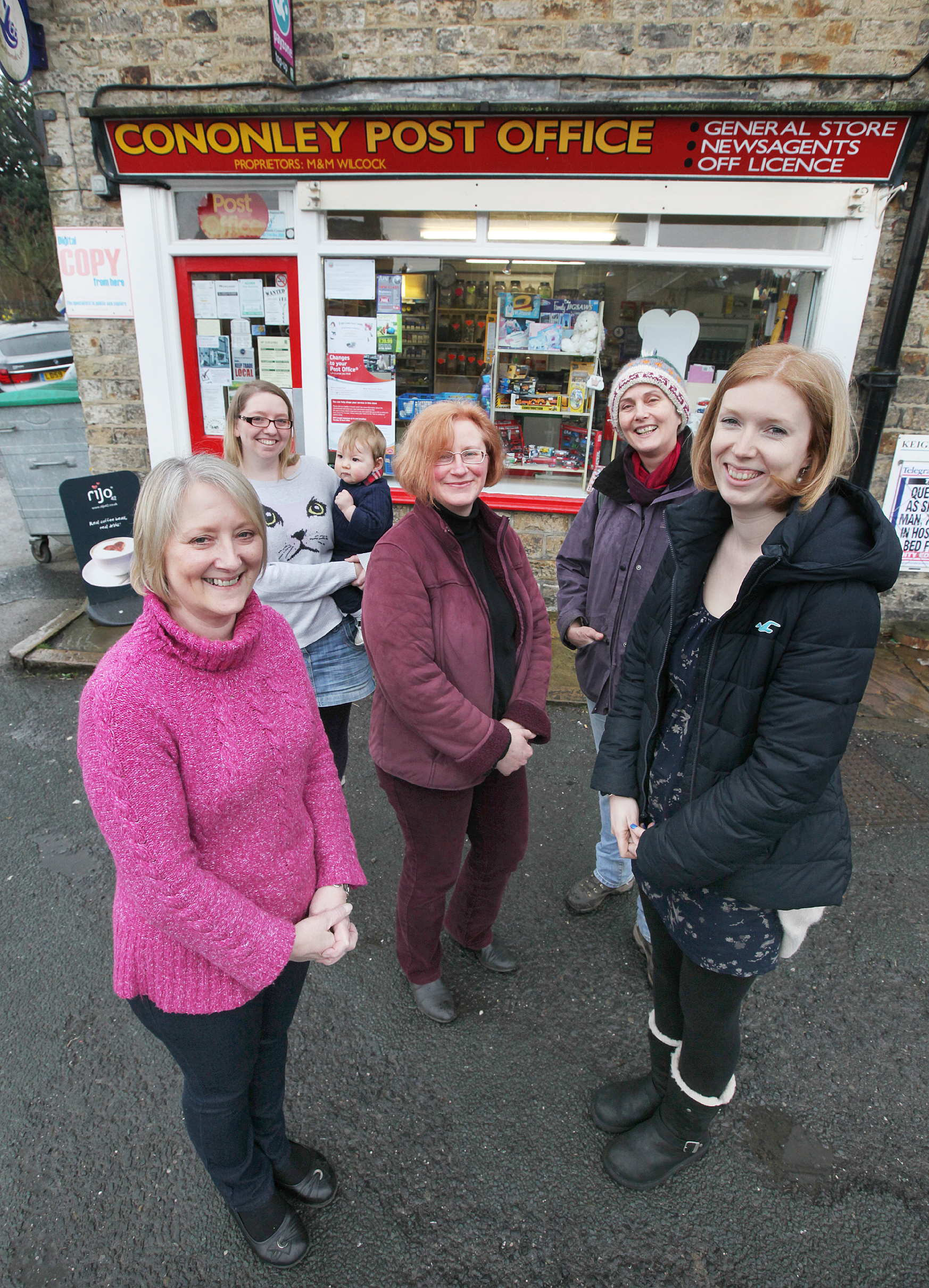 POSTAL PLAN: Community representatives campaigning to turn the Post Office into a community run facility.