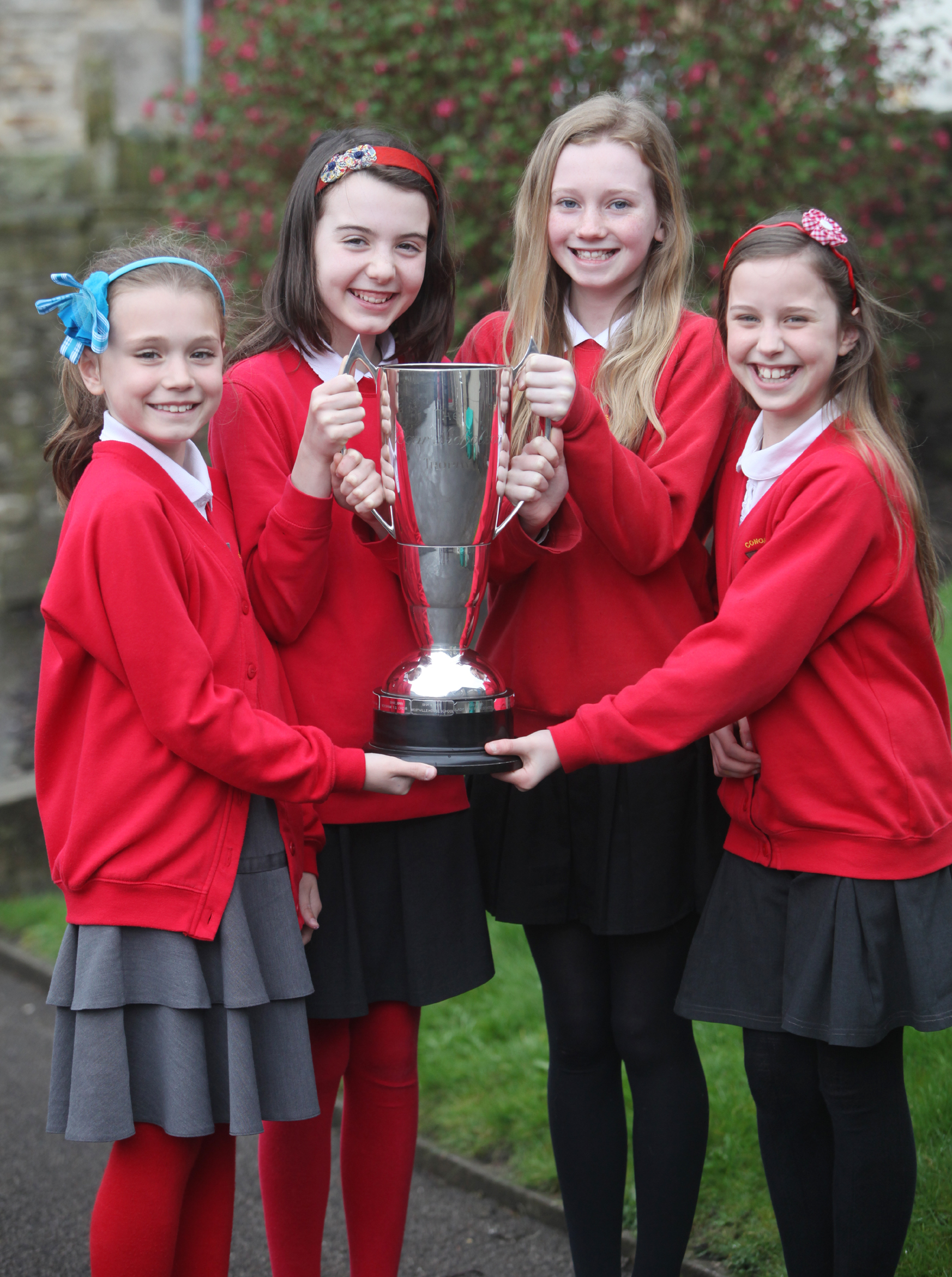 FLAUTISTS: Cononley Primary School's Faith Ramsden, Ysabel Ackroyd, Amy Fidler and Luby Wilson