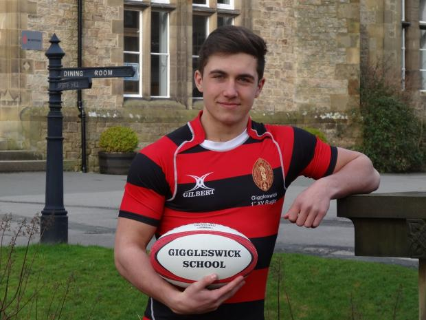Giggleswick School's Taylor Prell is among three Leeds Carnegie players in the England under-18 squad