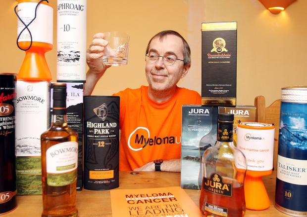 Whisky enthusiast Richard Ednay wants to raise money for Myeloma UK