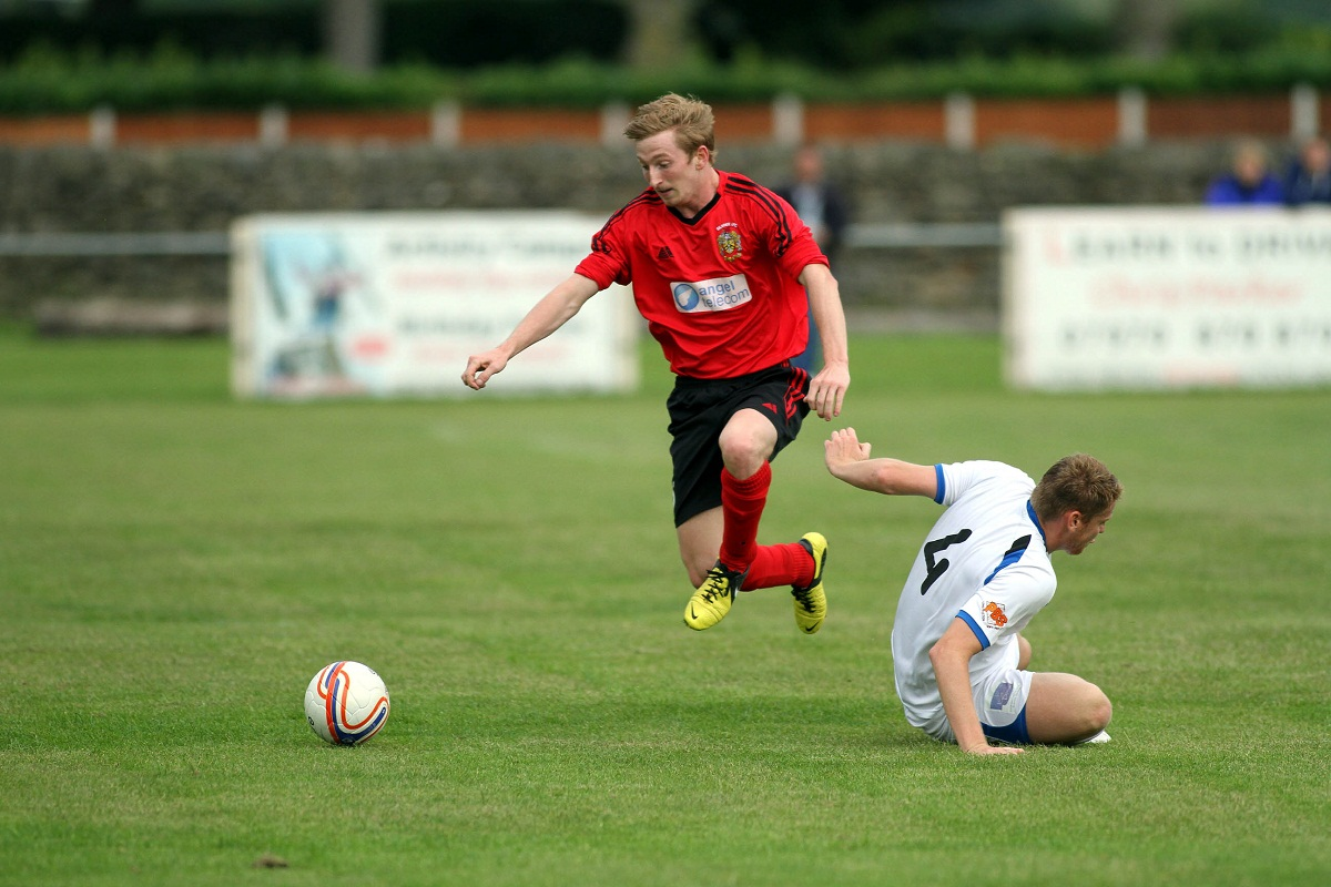 Dale Feather puts Silsden ahead last night in a game they should have won