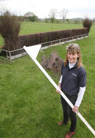 AMAZING TRADITION: Clerk of the course Jo Foster prepares for Skipton Races at Heslaker Farm, Carleton