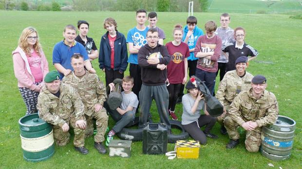 Prince's Trust students get an insight into military challenges