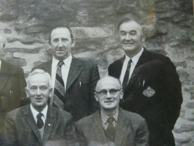 George Kettlewell, back right, with one of the sccessful Devonshire teams