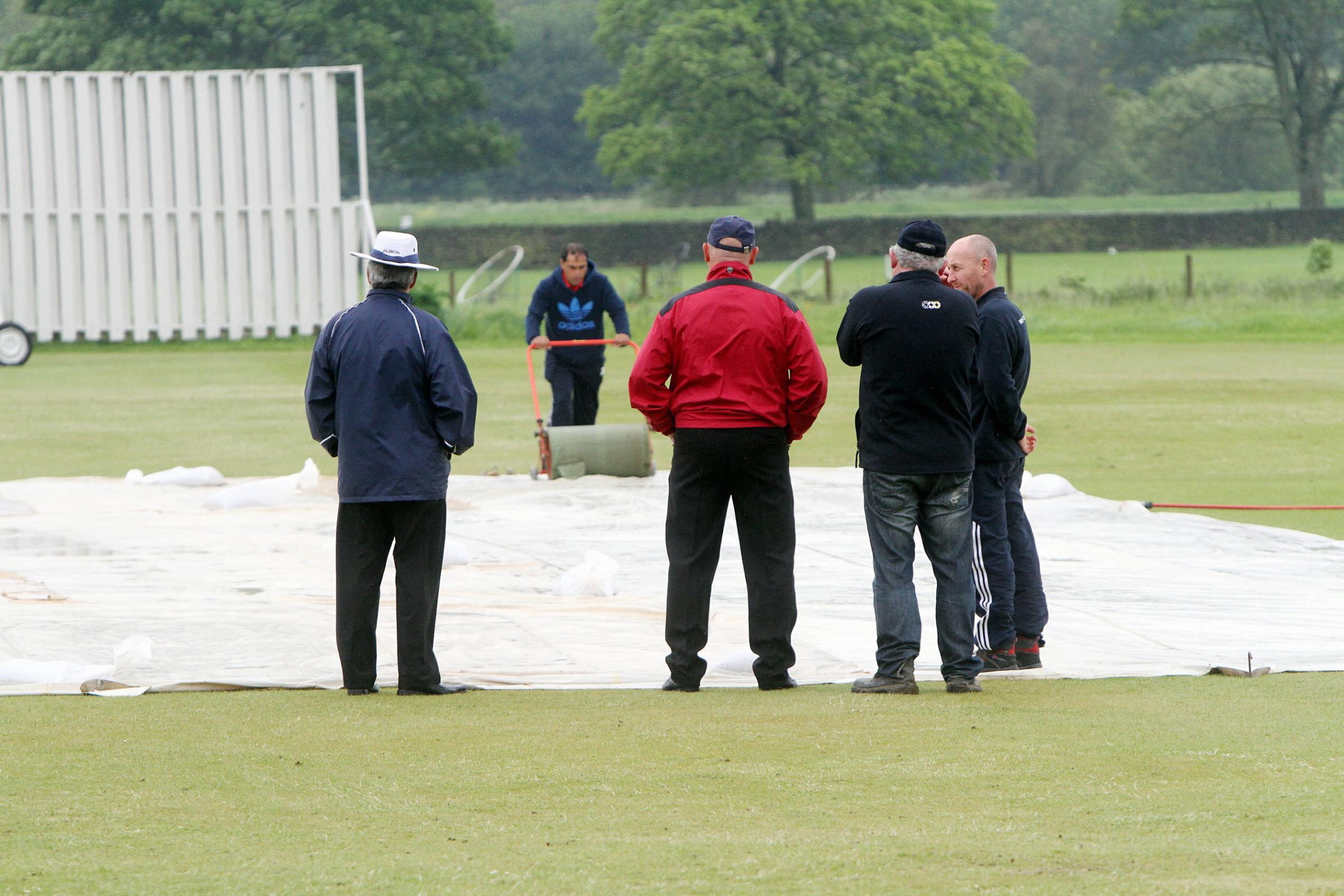 Cricket hit for six by wet weather