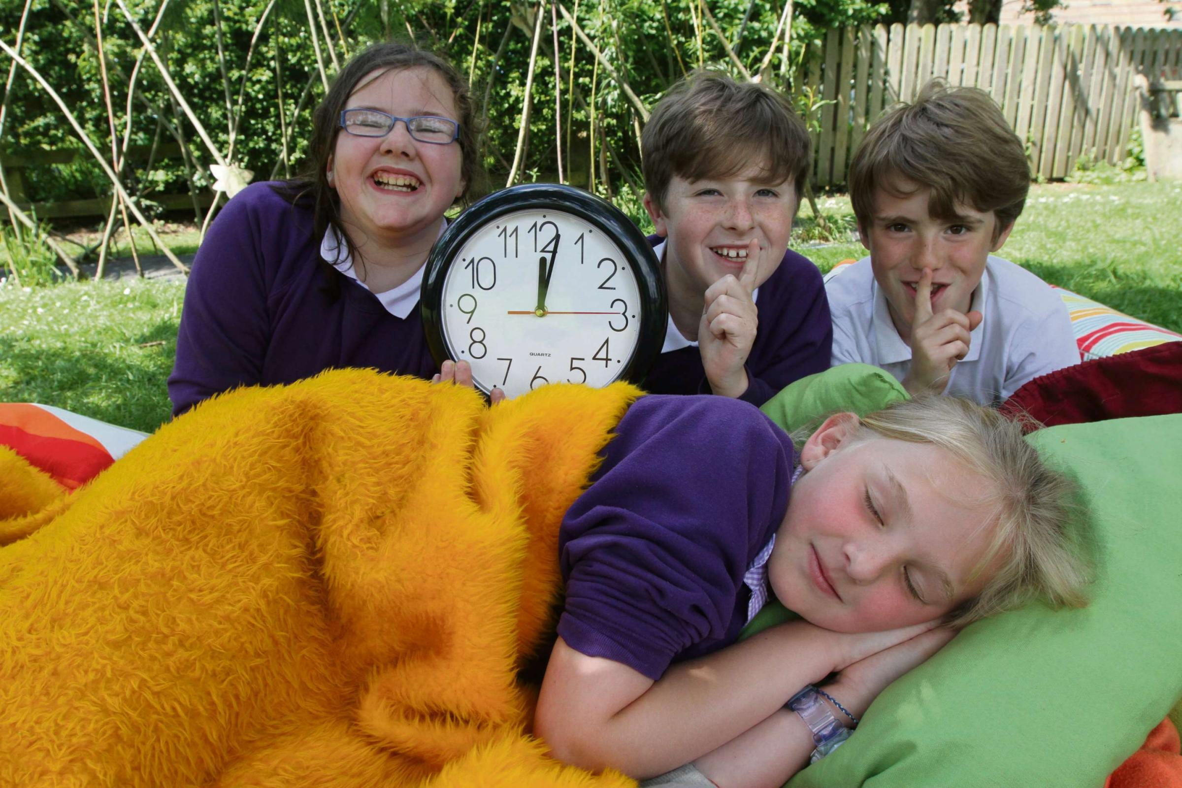 Carleton school pupils tuck into pizza at big sleepover
