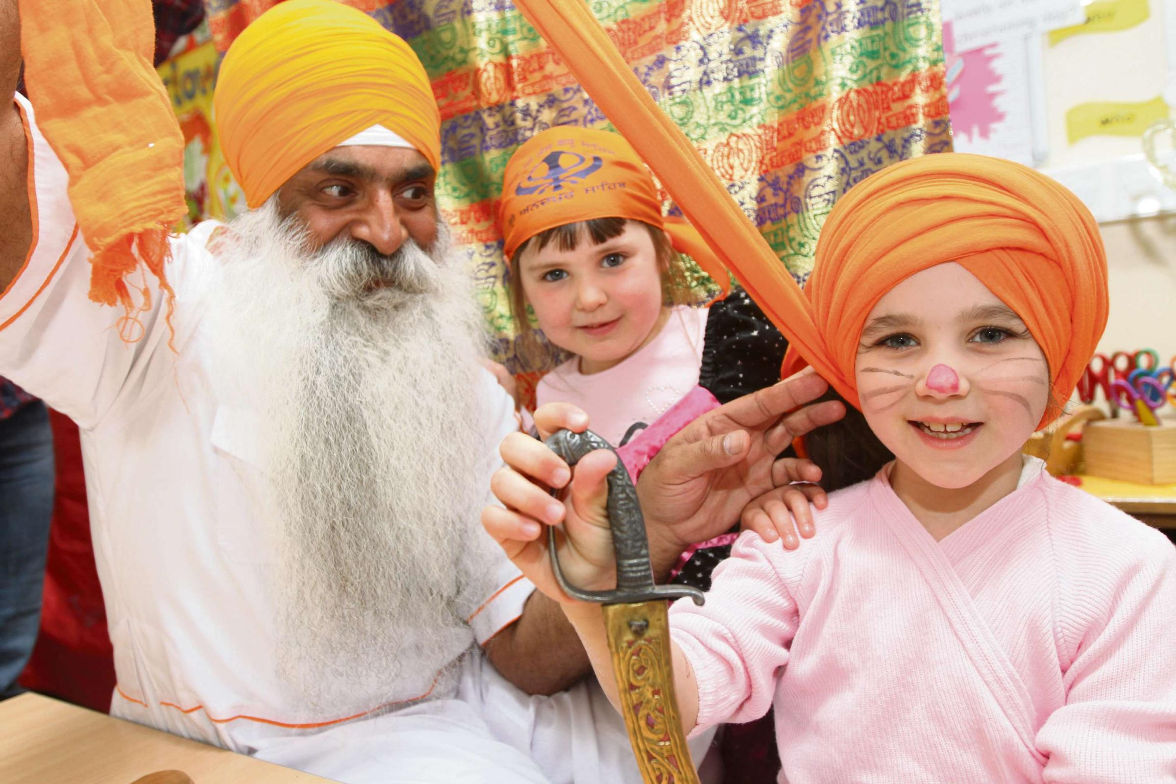 Kettlewell School welcomes Sikh visitor