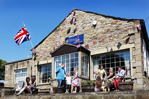 The Three Links Club in Skipton during the Queen's Diamond Jubilee celebrations