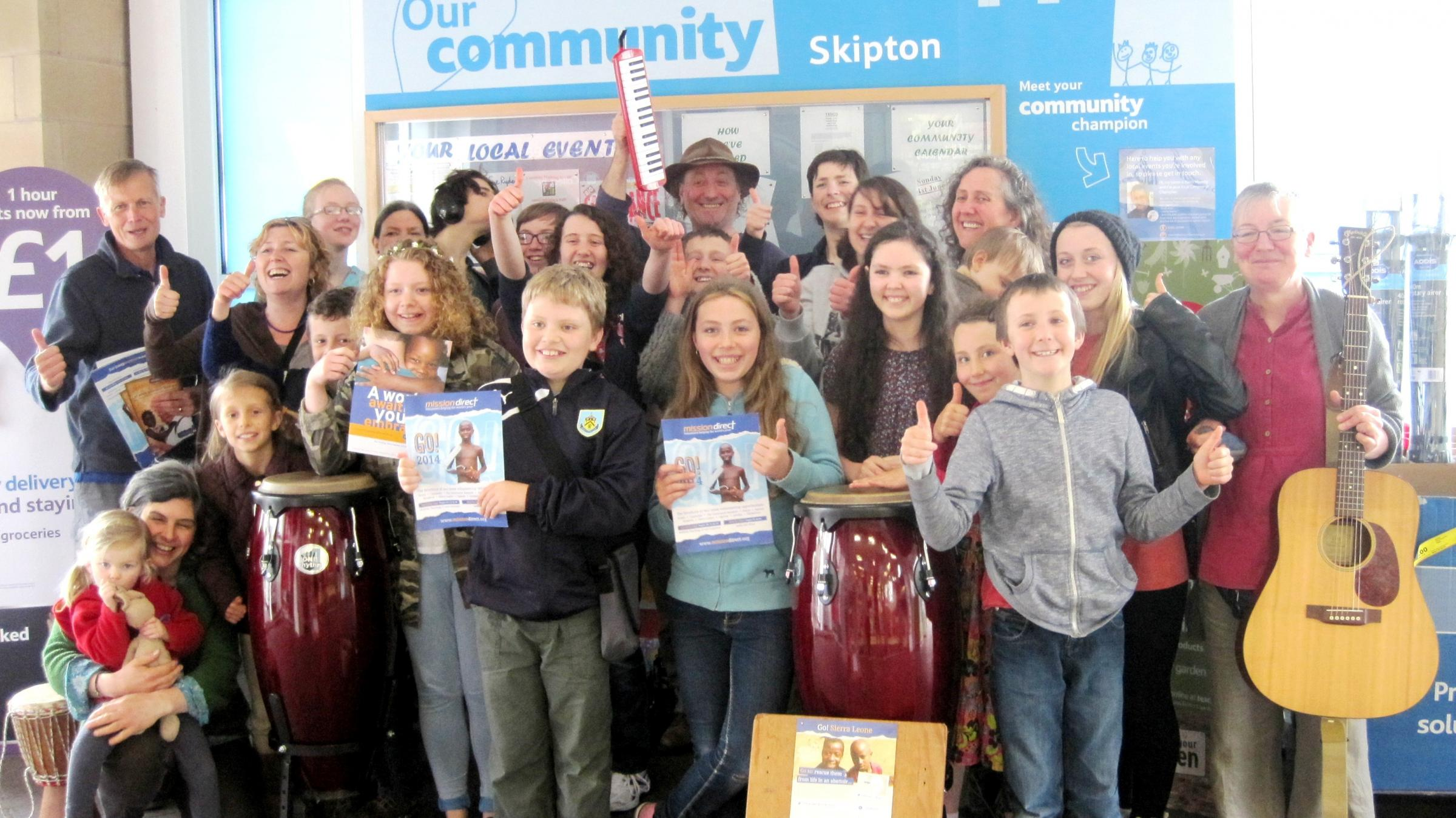 Home educators entertain shoppers at Skipton's Tesco store