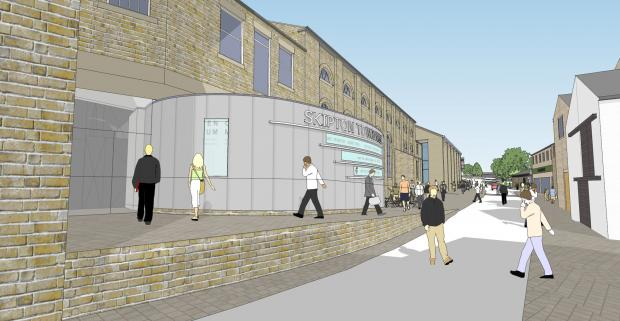 Craven Herald: Artist's impression of the new entrance to Skipton Town Hall (6780349)