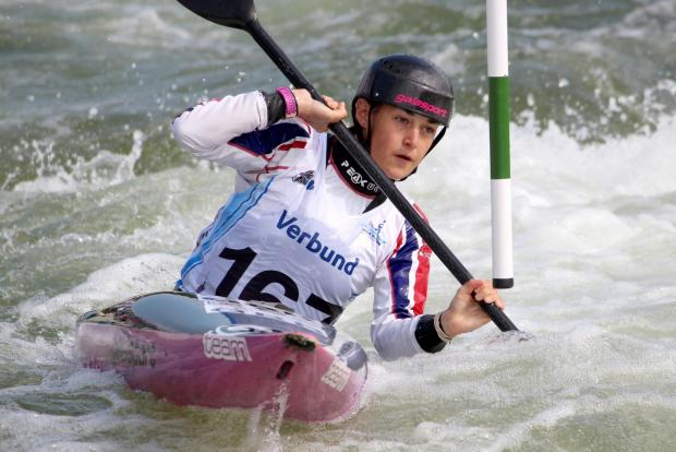 Beth Latham won gold in the women's K1 team event at Lee Valley