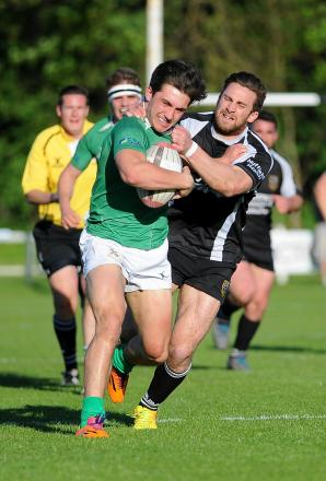 Taylor Prell in action for Wharfedale in their Yorkshire Cup final win over Otley