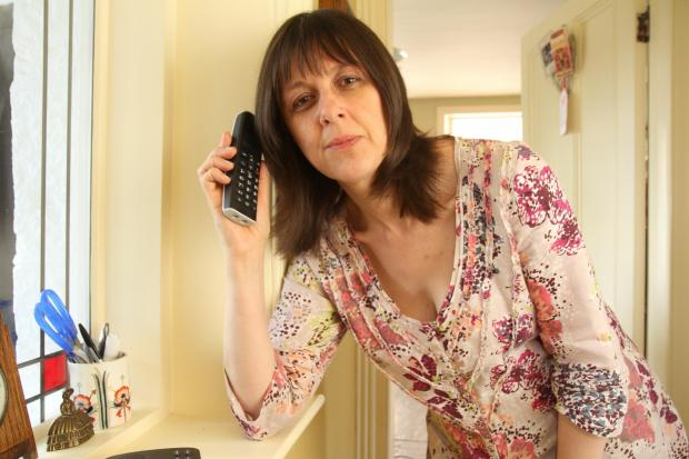 Craven Herald: Caroline Whitaker, who has been left with no phone landline for days (7024058)