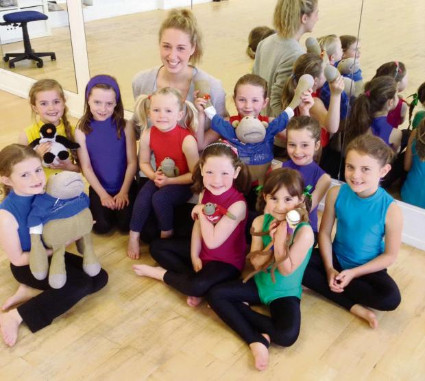 Successful pupils at Skipton's Northern Dance Centre, with Stephanie Haighton