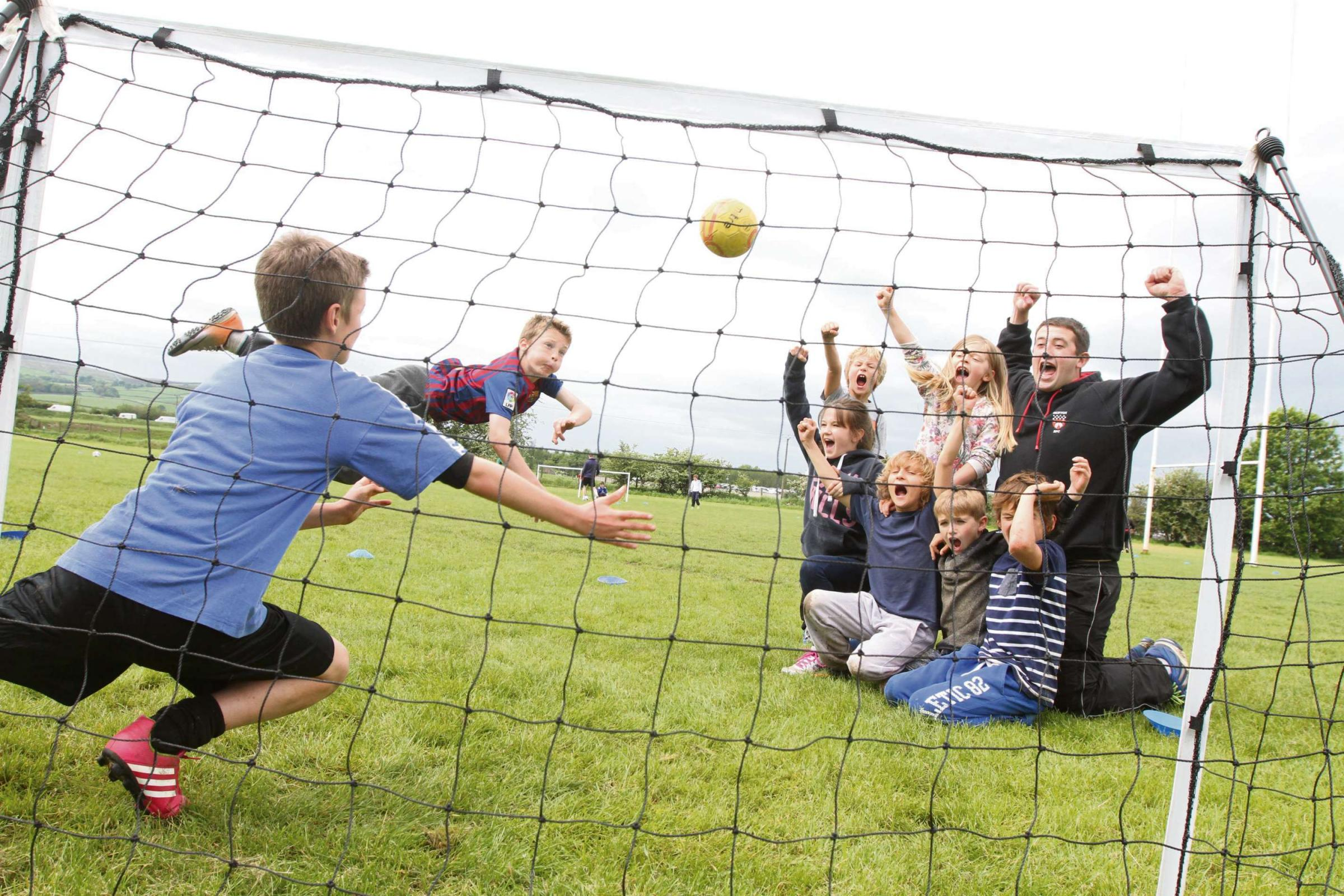 Children's chance to try out sports at Skipton Rugby Club.