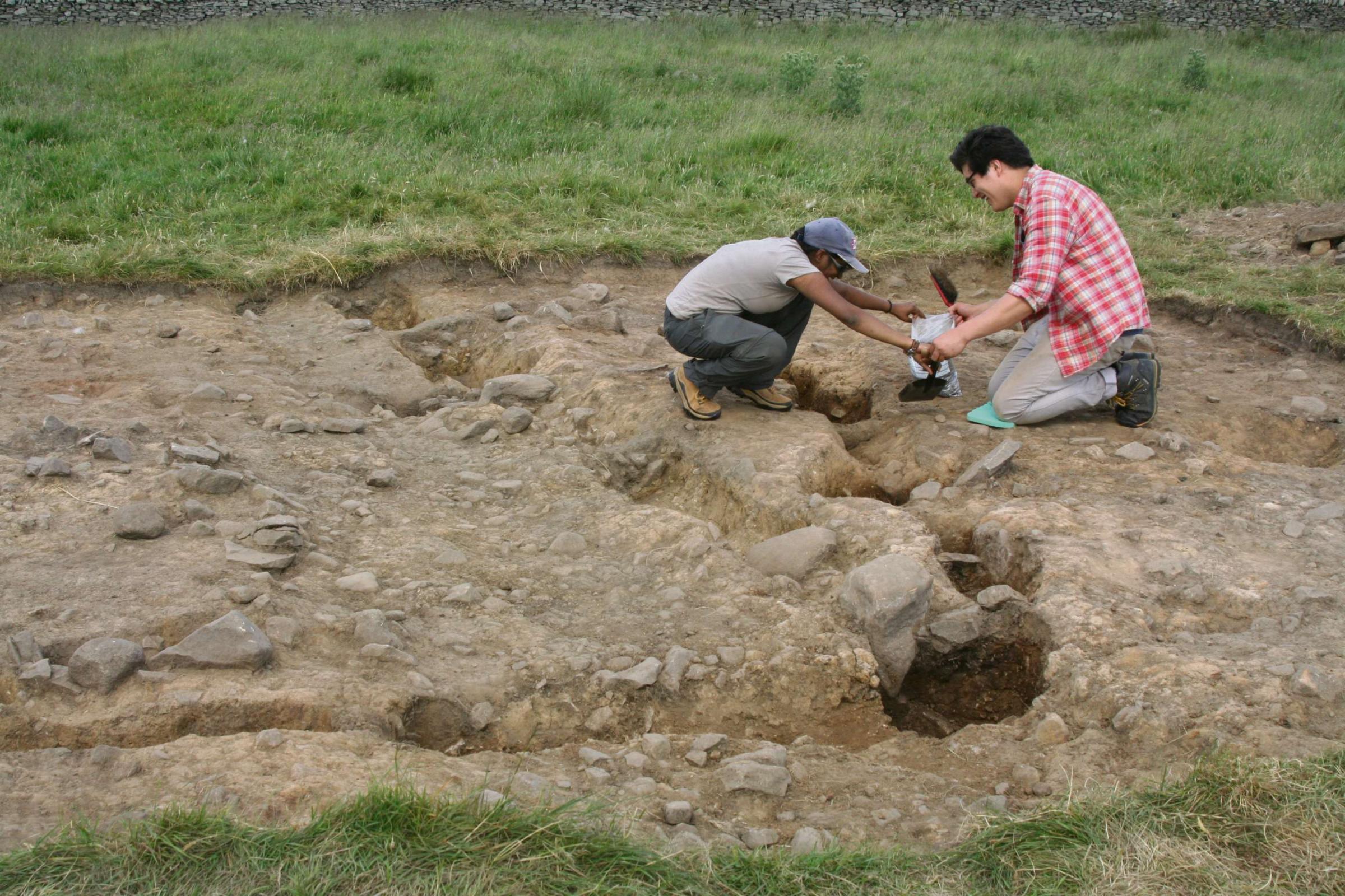 Archaeology students find 6,000-year-old house remains at Yarnbury Henge, Grassington