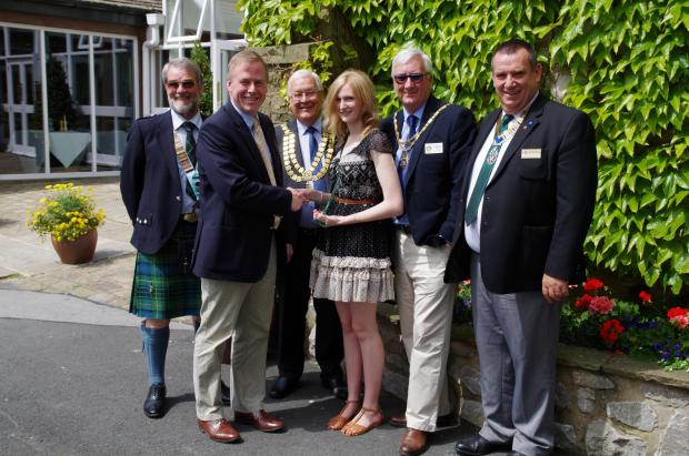 Mark Stewart-Clark, Rotary District Governor, David Cutter, Group Chief Executive, Skipton Building Society, Lauren Stafford, Rotary Young Achiever, John Dawson, Skipton Mayor, Gordon Jolly and Bob Marchant of Rotary