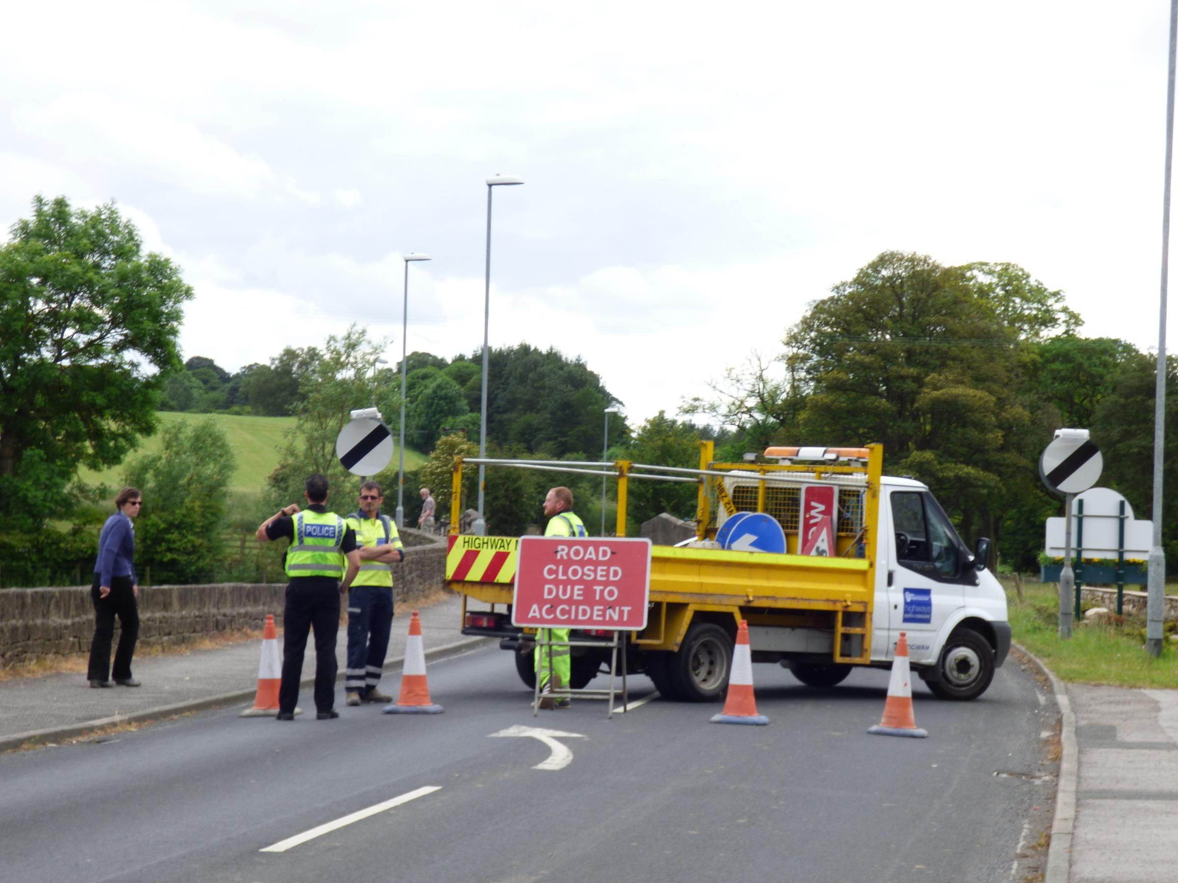 Skipton Road was closed for several hours after the crash