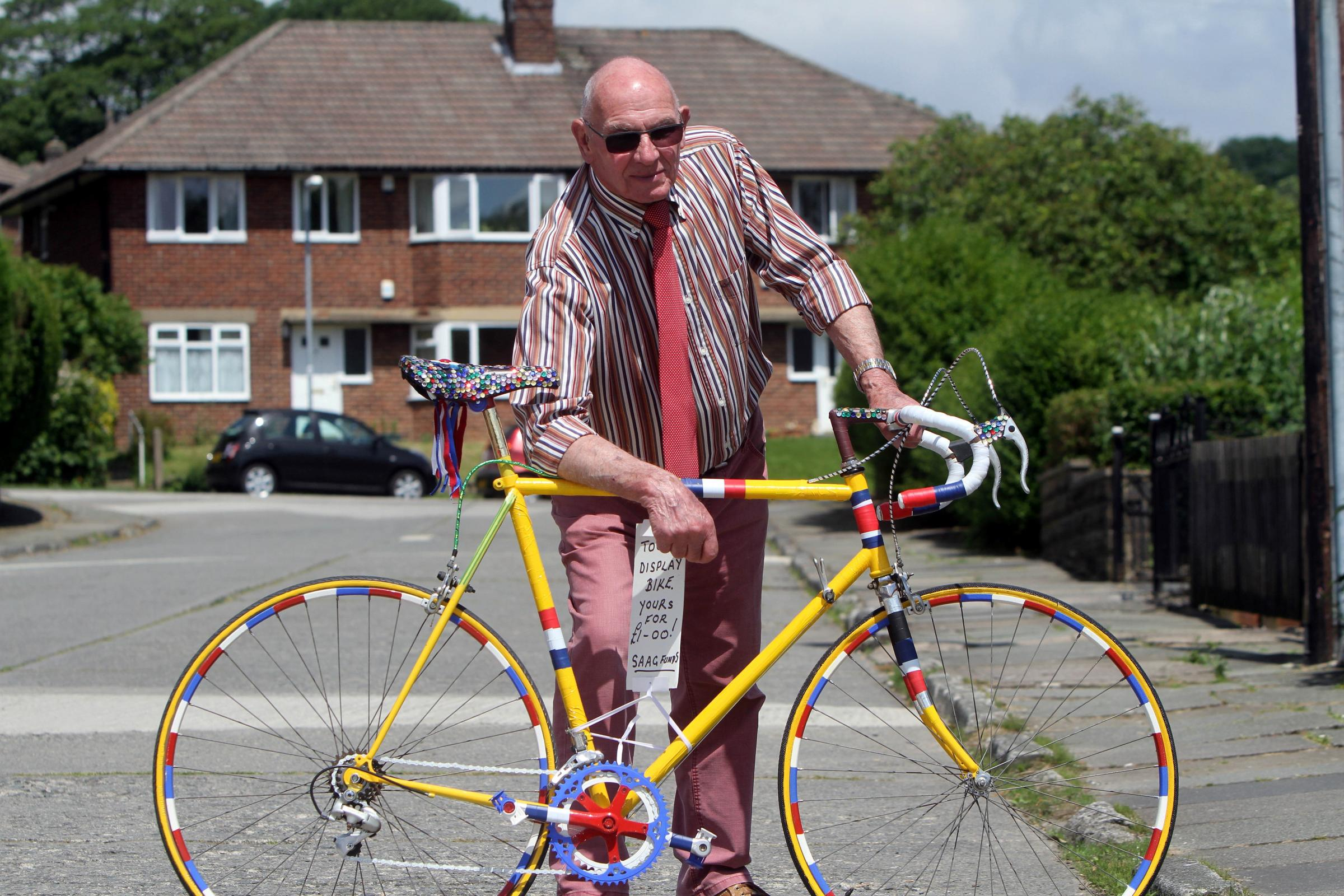 Decorated bikes helps to raise money for road repairs in Silsden