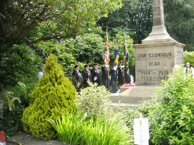 A rededication ceremony is held to celebrate the recent cleaning and partial restoration of the Embsay War Memorial