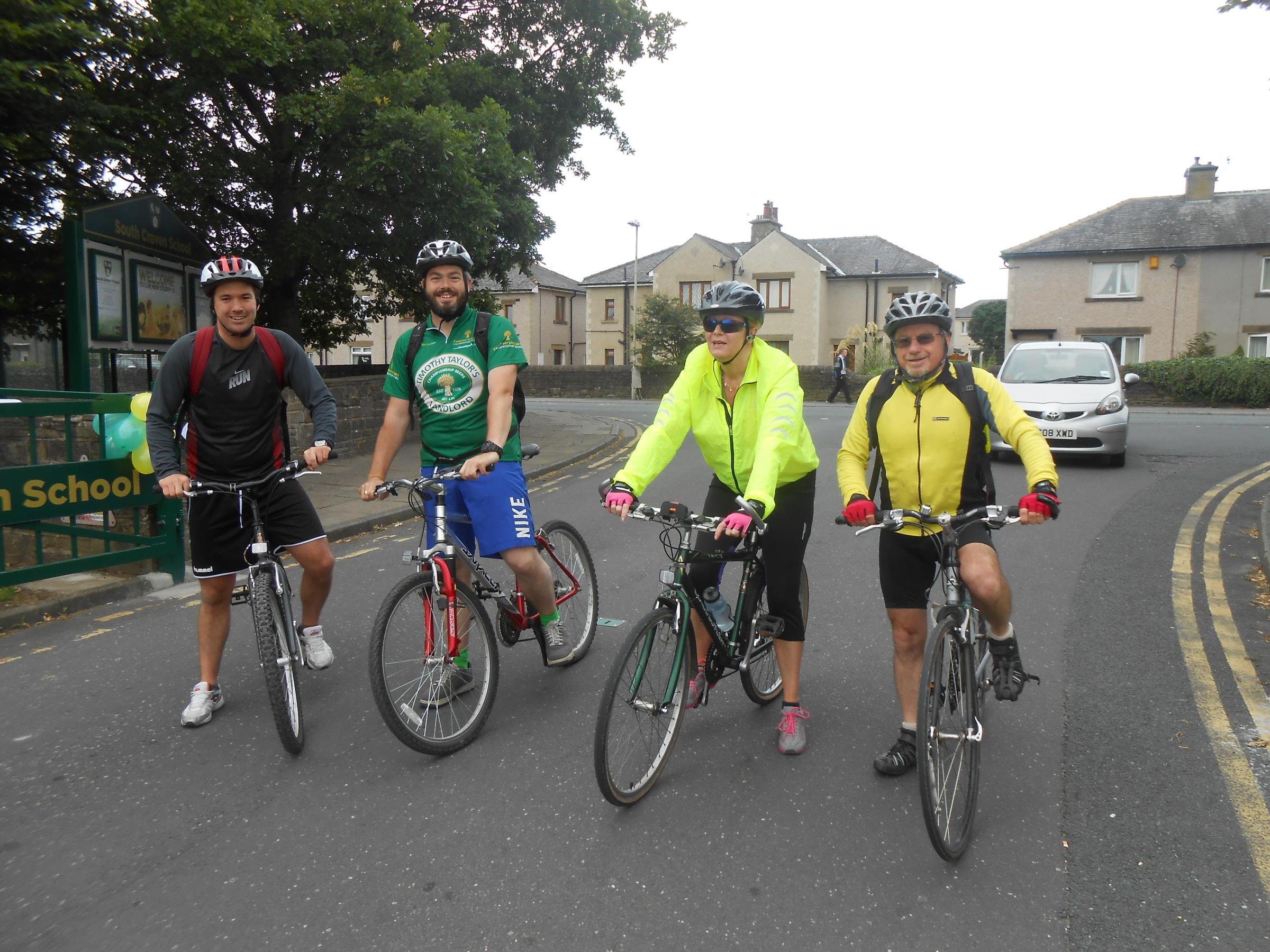 South Craven School cyclists stage a Grand Arrival