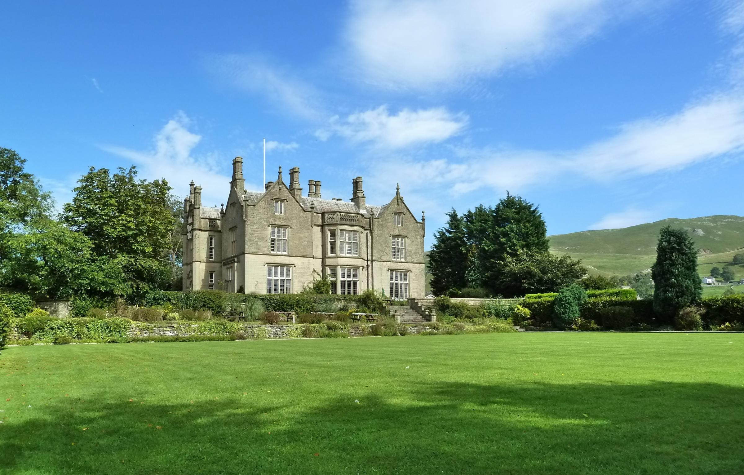 The grade two listed Falcon Manor at Settle