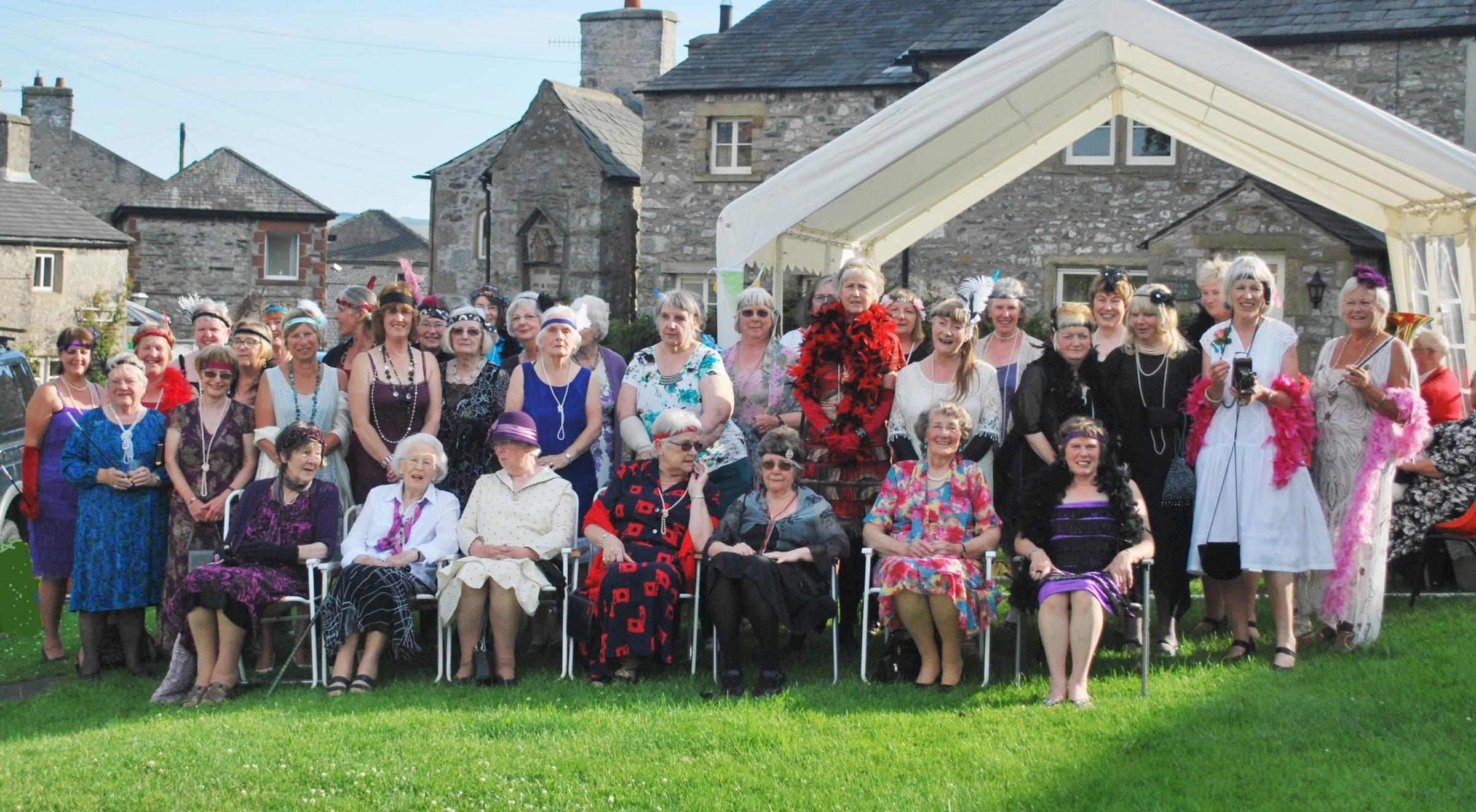 Austwick WI celebrates its 90th birthday with a 20s party