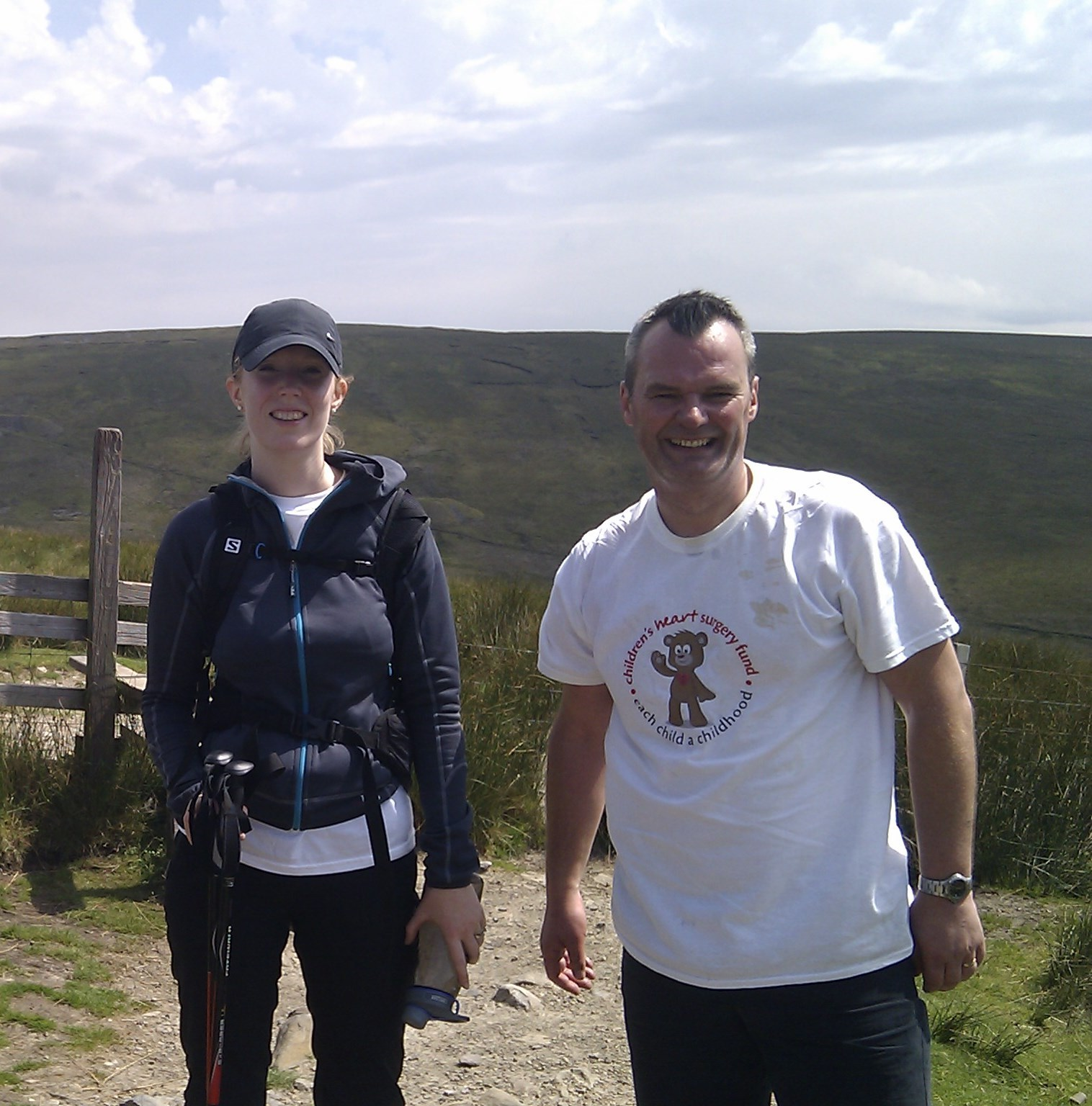 Lois and Julian Brown during the charity trek