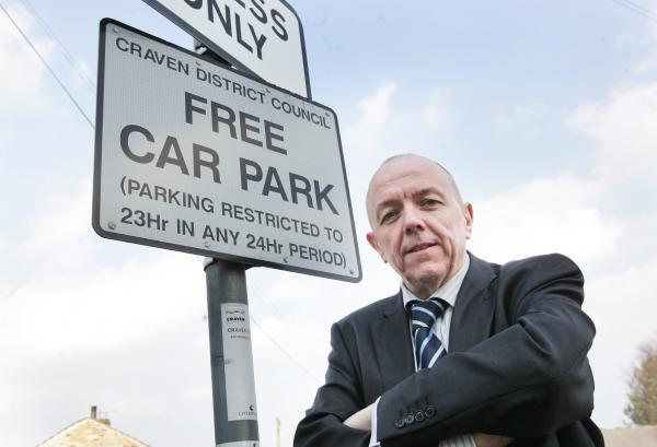 Councillor Graham Beck in a Cross Hills car park in 2010