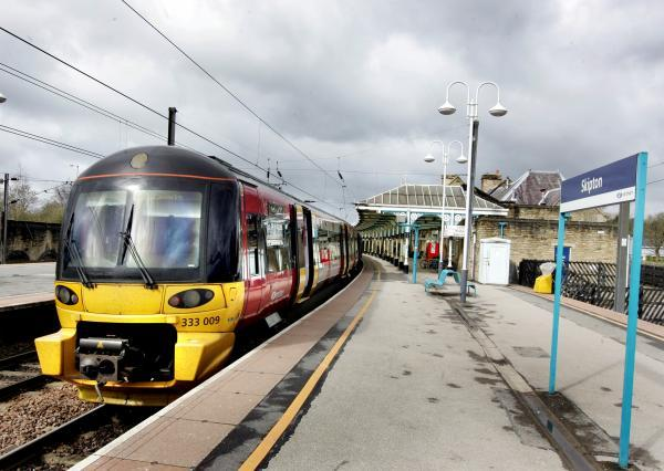 Skipton rail passengers are affected by overhead wire and train problems