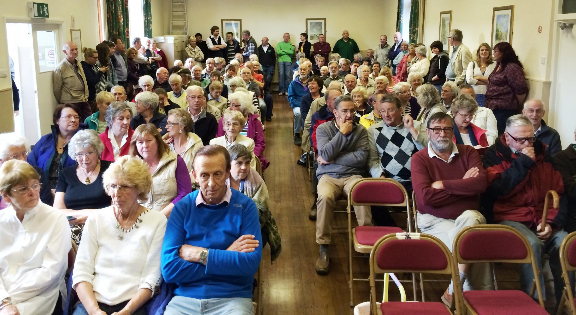 Residents pack into Carleton Village Hall